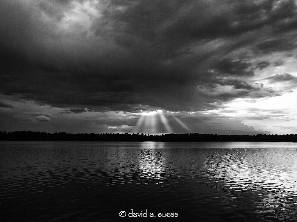 Storm Clouds on Sand Lake - Redux in B&W