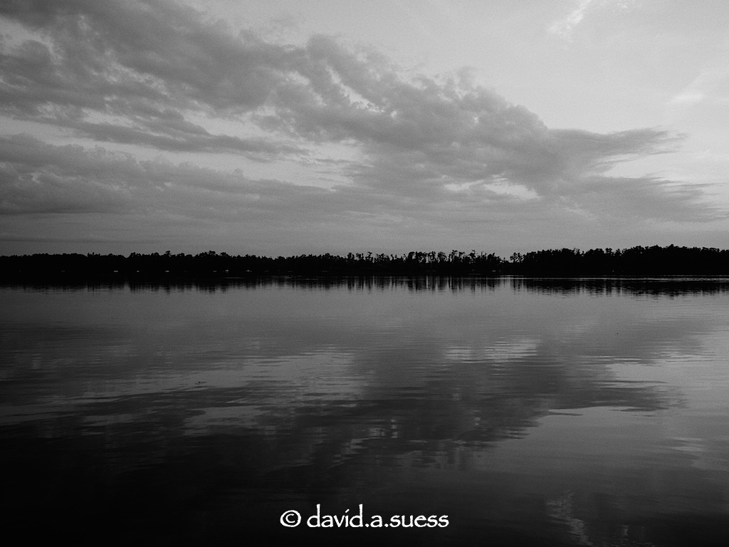 Another beautiful sunset at the lake... in B&W