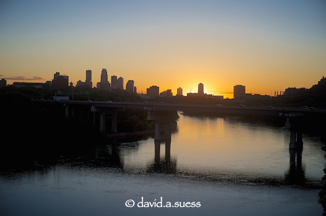 Franklin Avenue Bridge at Sunset