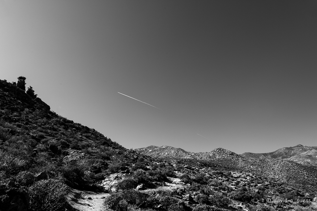 Contrail Over Indian Canyon