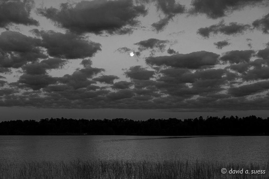 Setting Moon, North Sand Lake