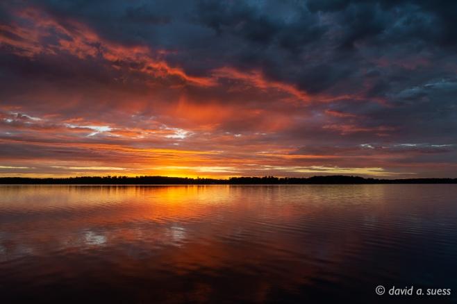 Fiery Dawn Sky