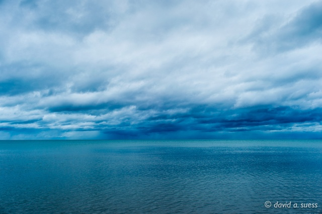 Blue Green Water and Clouds No. 3