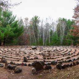 …Sacred Grove labyrinth in November